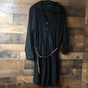 Derek Heart Black Button Front Super Soft Dress